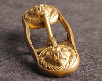 cloak clasp Lion of Judah Haile Selassie era Rasta clothing  Ethiopian art jewelry