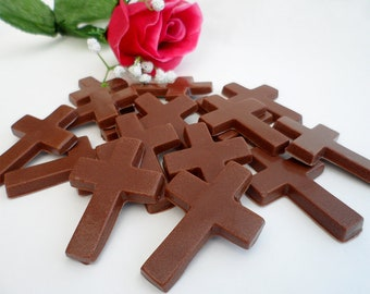 Chocolate Crosses, Easter Chocolate, Milk Chocolate Cross Gift Favour, Chocolate Favours, Church Wedding Favours, Baptism & Christening Gift