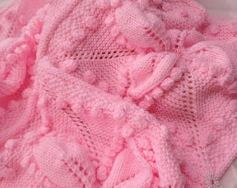 CANDY FLOSS baby blanket knitting pattern
