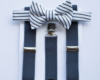 Bow Tie Suspenders For Boys To Men, Ring Bearer Outfit, Wedding Bow Tie, Cake Smash Outfit, Baby Boy Bow Tie, Boys Suspenders, Mens Bow Tie