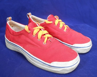 Vintage Red Keds Canvas Sneakers Womens Size 8