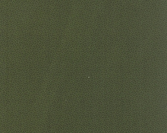 20% off thru Apr 24th moda fabric by 1/2 yard MINIATURE PRIMITIVE GATHERINGS-tiny black vines on kale green 1157-21
