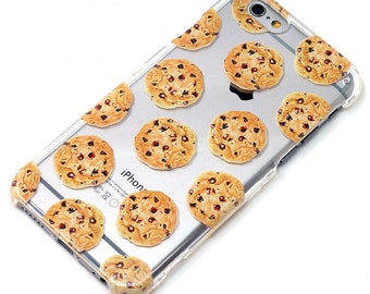Chocolate Chip Cookies Cookie iPhone Case, Transparent, Phone Case, iPhone 6, iPhone 7, iPhone 6 plus, iPhone 7 Plus, iPhone SE, iPhone 5