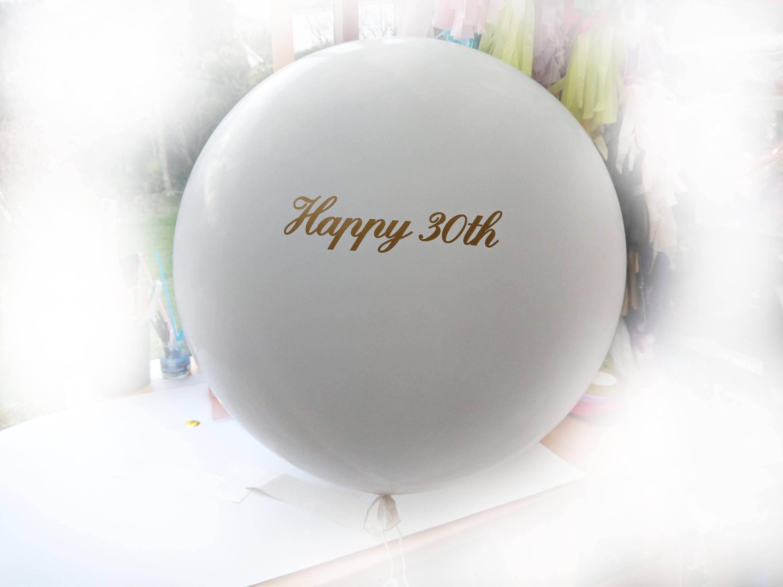 Happy Birthday Balloons With Names ~ Happy 30th balloon vinyl name custom balloons birthday balloons
