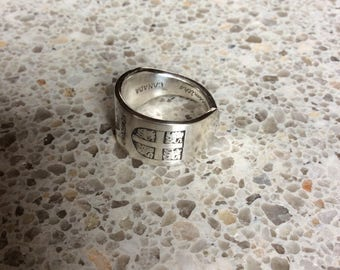 Newfoundland silver spoon ring