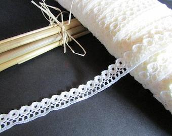 Lace Ribbon - 1 cm width - off-white 9.17