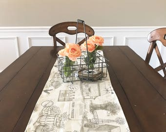 Country cottage table runner, farmhouse table runner, country farm