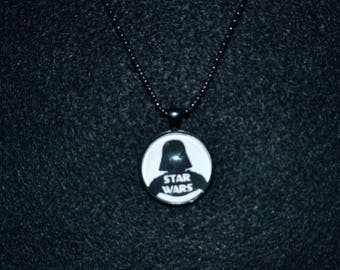 Star Wars - Darth Vader - Cabochon Pendant Necklace - May The Force Be With You - Movie - Handmade
