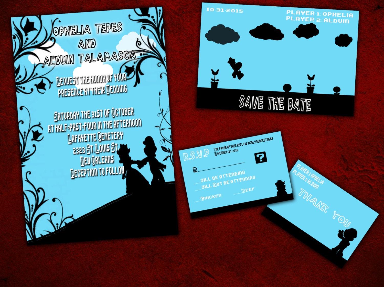 Luxury Nerdy Wedding Invites Elaboration - Invitations Example ...
