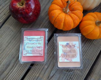 Pumpkin Pie Tarts or Apple Pie Tarts / Fall Tarts / Soy Wax Tarts / Handmade