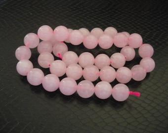 38 beads semi precious Jade 10 mm
