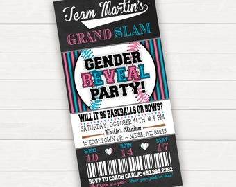 Baseballs or Bows Gender Reveal, Baseball Gender Reveal Invitation, Baseball Reveal, Gender Reveal Party, Printable Gender Reveal,