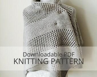 CORNER BROOK shawl [downloadable PDF knitting pattern]