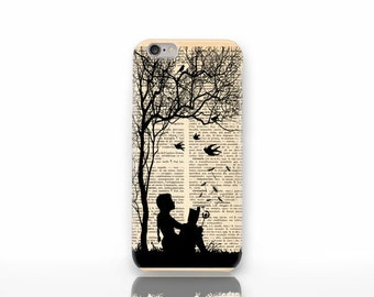 Little girl reading book iPhone X case - iPhone 8/8 Plus case - iPhone 7/7 Plus case - iPhone 6/6 Plus case- iPhone 5/5S case-NP3D020