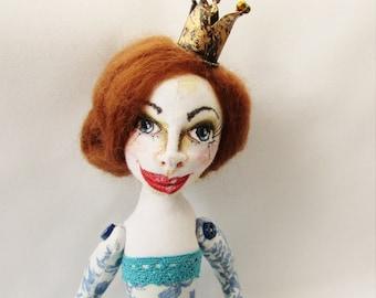 Cloth Art Doll Princess Rosalind