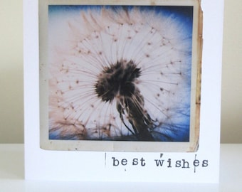 Make a wish, vintage style photography greetings card
