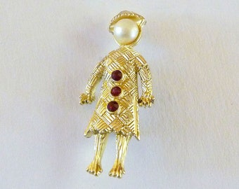 Little Lady Figural Brooch