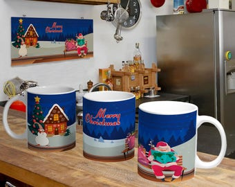 Christmas Digital Template Mug 6