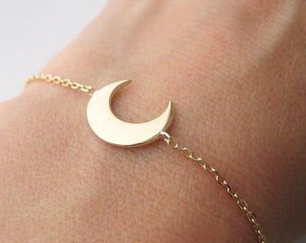 Bracelet Horn Crescent gold 750/000 18 k