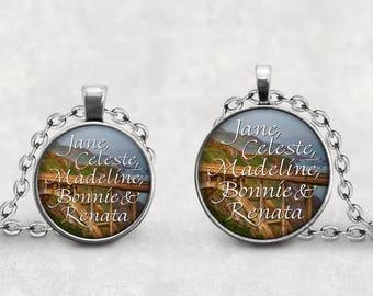 Big Little Lies Pendant, HBO Big Little Lies Necklace, Liane Moriarty Book Pendant, Bixby Creek Jewelry, Liane Moriarty, Rural Jewelry