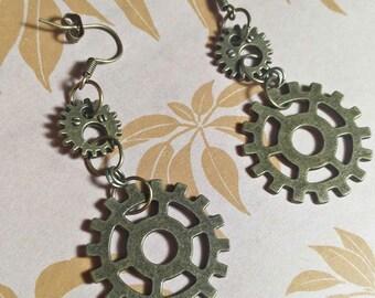 Gears Earrings A