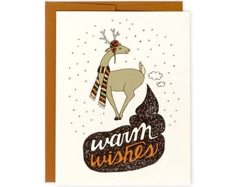 Funny Holiday Card - Warm Wishes