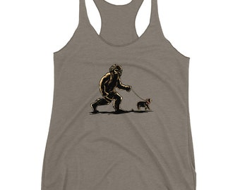 French Bulldog, Bigfoot, Dog Lover Gift, Frenchie, Sasquatch, Tank Top, Clothing-Gift, Novelty Gift, Unique Gift, Women Gift, Gift for Her