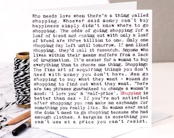 Shopping Card; Birthday Card For Shopaholics; Birthday Card For Friends; Card For Her; Card For Wife; GC266