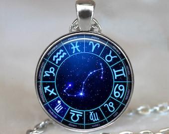 Scorpio Star Wheel necklace, Scorpio necklace Scorpio pendant Constellation necklace, Zodiac jewelry Zodiac necklace keychain