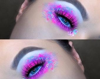 Kawaii Ice Cream Sundae | Face, Hair & Body Glitter | Festival Glitter Mix | Loose Chunky Festival Glitter | Pink Glitter Mix