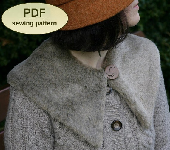 NEW Sewing pattern PDF with instructions and templates to make the Harbord scarf and collar instant DOWNLOAD