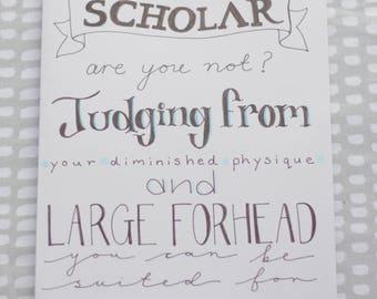 "Atlantis ""You are a scholar"" Quote Card"