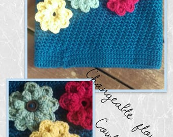 Changeable flower cowl-women's cowl-teen cowl-child's cowl-fall cowl-crochet cowl-winter cowl-fall accessory-winter accessory-gifts for her