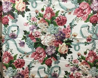 Sophie's Garden Waverly Vintage Cotton Sateen Fabric dress apron pillow drapes curtains drapery home decor chair cushion scotchgard