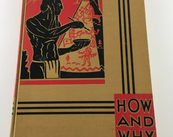 How and Why Library Dictionary Vintage 1947 Hardback Retro Graphics Illustrated