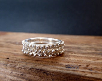 Stack Ring Set Bubble Rings Everyday Jewelry Gifts for Her