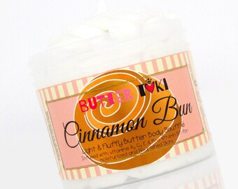 CINNAMON BUN Body Butter Soufflé 4oz- Body Lotion - Vegan - Paraben Free - Gluten Free - Handmade
