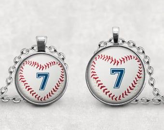 Personalized Baseball Pendant, Baseball Gift for Mom Coach, Baseball Team, Rural Jewelry