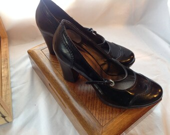 Mary Janes Black Block black/shoes / heels 3.5 inch Chunky/shoes versatile