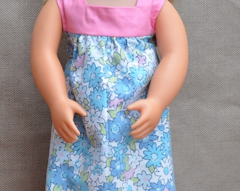 Very cute long sundress (maxi dress) for 18 inch doll.