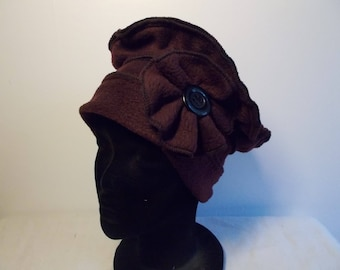 Dark plum fleece Hat