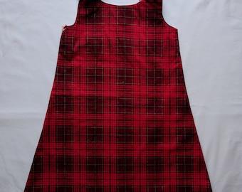 Red and Black Plaid Dress - Toddler Dress - Christmas Dress