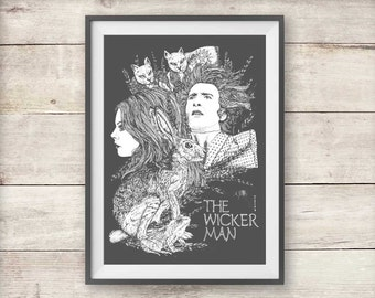 The Wicker Man Print - Horror Movie Poster