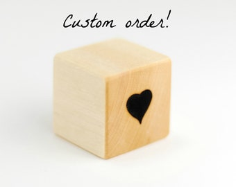 RESERVED for Brigitte! 3 custom wood numbers