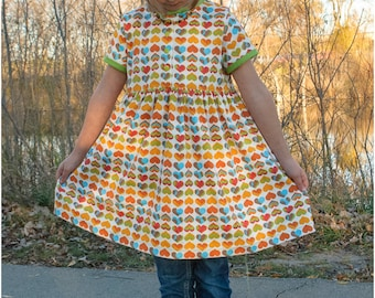 PDF Child Dress Sewing Pattern, The Avontuur Dress and Tunic Sized 12m to 12y