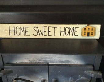 Home Sweet Home Wood Sign, living room decor, home decor, wall decor, wood sign, gallery wall, Home Sweet Home