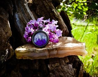 Lovely Locket   Purple & White - 133