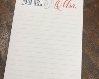 Mr. and Mrs. Notepad
