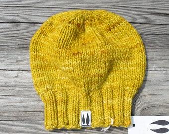 """Handmade hat - 'Melange Ochre"""" - pure merino"""
