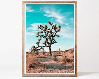 Desert Print, Joshua Tree Print, Desert Cactus, Photography Print, Printable Wall Art, Digital Download, Boho Decor, Landscape Photography